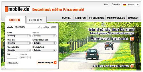 Auto Recherche Mobilede Und Autoscout24de Grüner Fahren