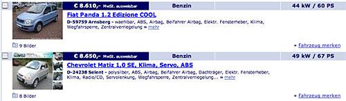 www.autoscout24.de - Die Ergebnisse