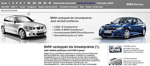 BMW verdoppelt die Umweltprämie