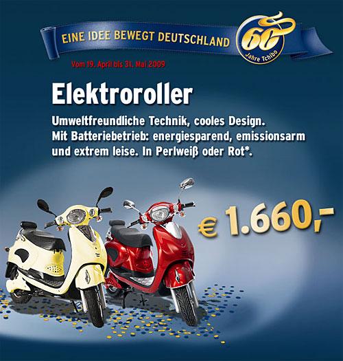 Elektro-Roller von Tchibo