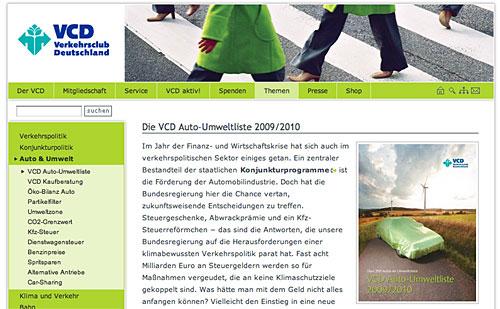 VCD-Umweltliste