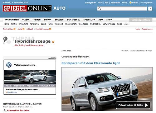 Übersicht Hybrid-Autos