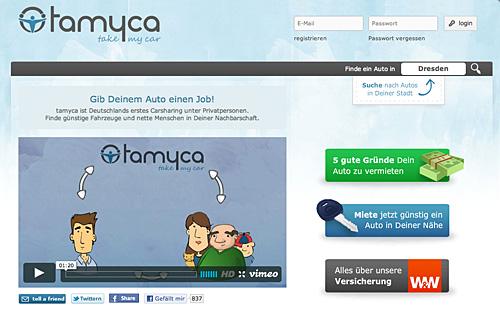 Tamyca - privat Autos mieten und vermieten