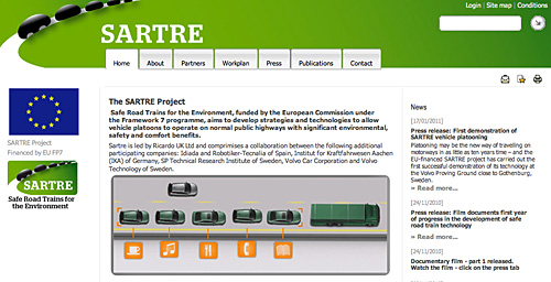 SARTRE EU-Projekt