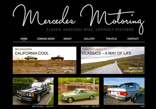 Website von Mercedes Motoring