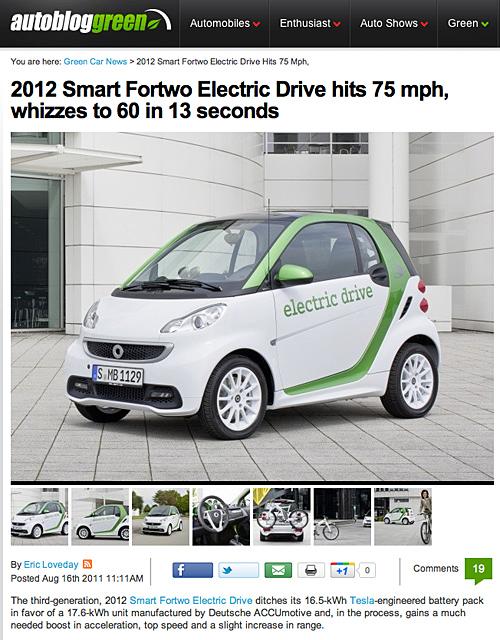 Der neue Elektro-Smart 2012