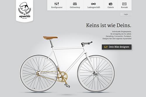 Design-Fahrrad-Websites