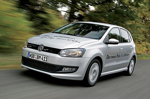 Der Spritsparer Polo BlueMotion. Bild: Volkswagen