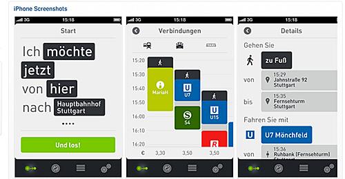 iPhone-App moovel von Daimler. Bild: Daimler