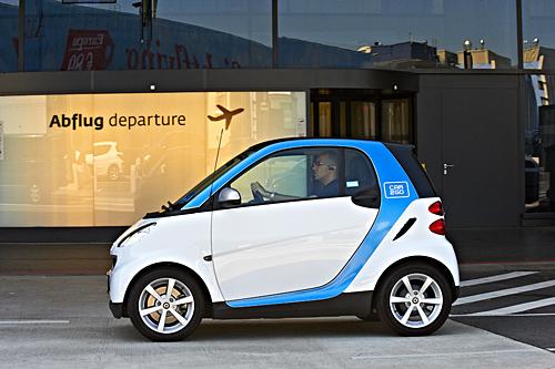 car2go am Flughafen Wien. Foto: Daimler