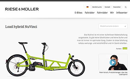 Das E-Bike Load von Riese & Müller