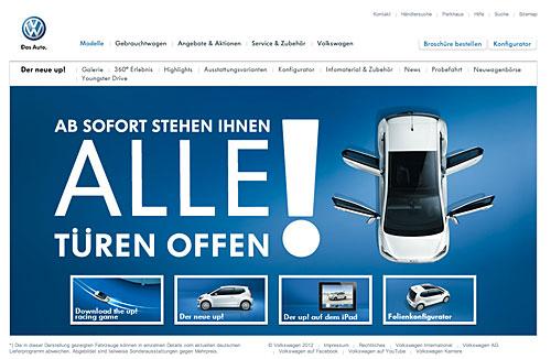Aktuelle Werbekampagne für den eco up! Bild: VW