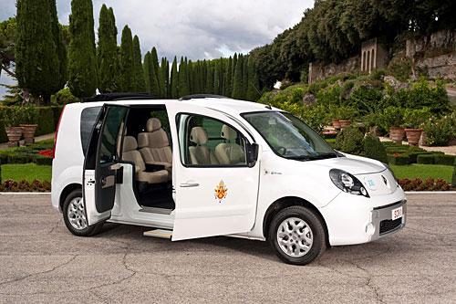 Der Kangoo Z.E. für den Papst. Foto: Renault