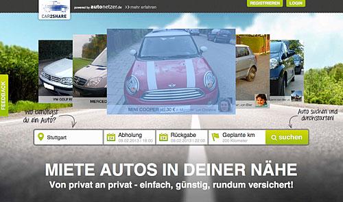 Aus autonetzer.de wird car2share.com mit Unterstützung von Daimler