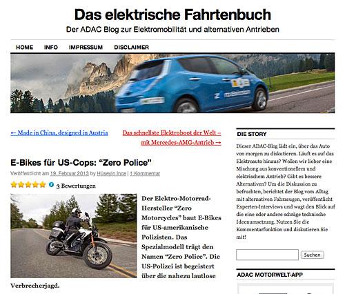 Elektro-Motorräder für US-Polizisten
