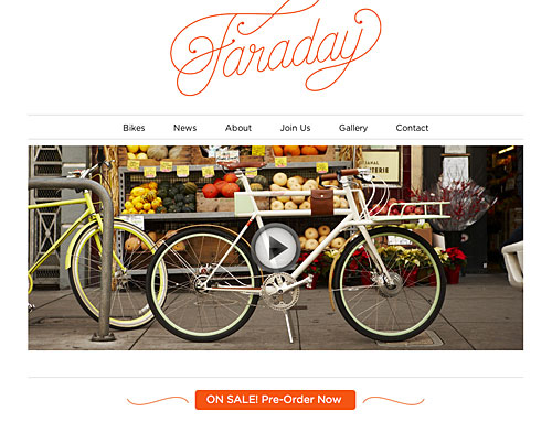 Faraday - beautiful electrical bicycles