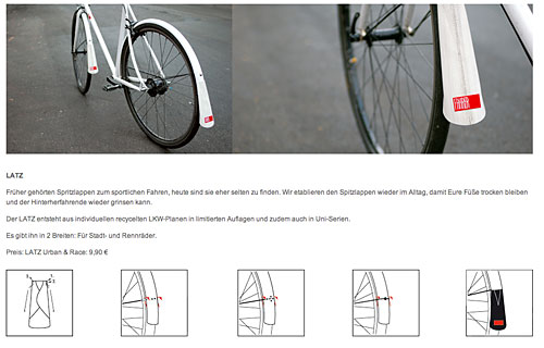 Schmutzfänger fürs Fahrrad