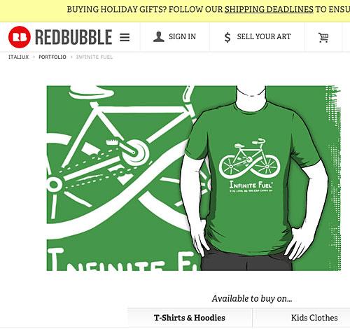 T-Shirts mit Fahrrad-Motiven