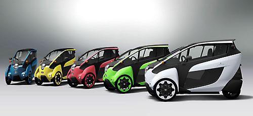 Ultrakompaktes Elektroauto in fünf Farben. Bild: Toyotoa