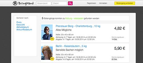 Die Website von bringhand.de