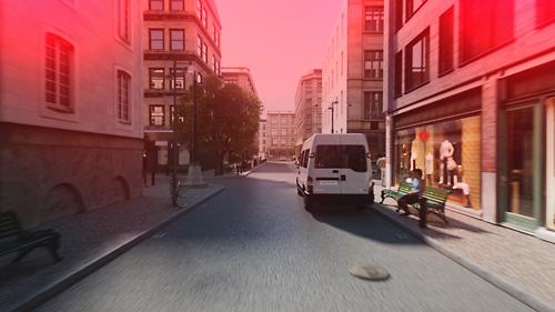 Volvos neues Sicherheitskonzept mit vernetzten Autos und Fahrradfahrern. Bild: Volvo