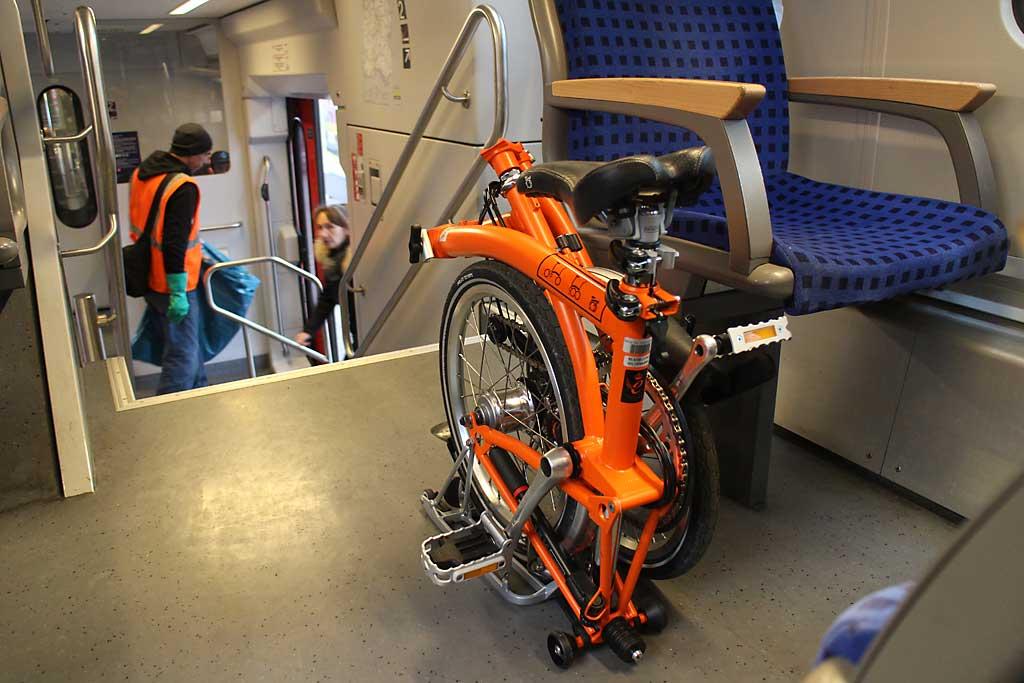 Keine Probleme und keine zusätzlichen Kosten im Zug.