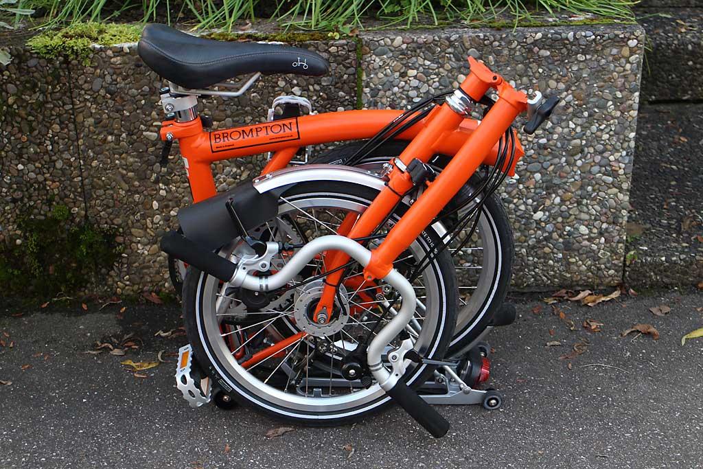 Das Brompton Faltrad ist kompakt und (relativ) leicht