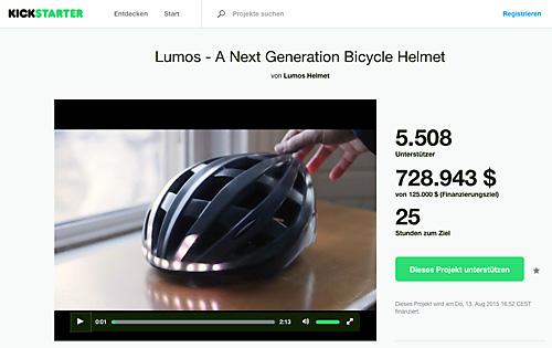 Kickstarterprojekt: Lumos Helmet