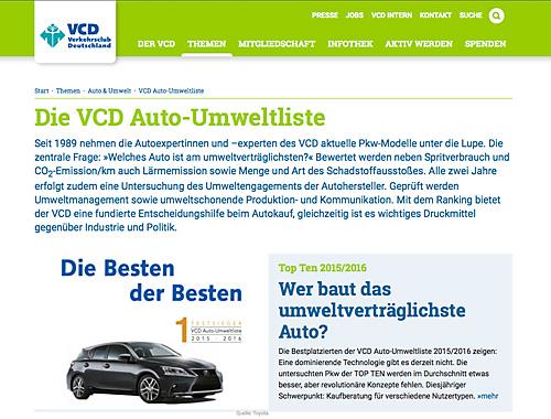 Die neue VCD-Liste 2015 / 2015 wurde veröffentlicht