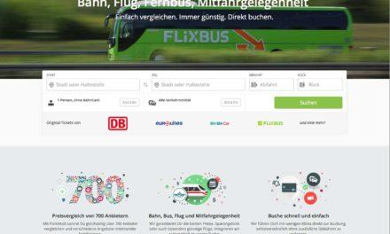 Verkehrsmittel-Suche für Bahn, Bus, Flug und Mitfahrgelegenheiten