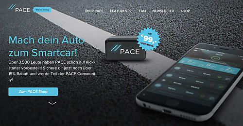 Pace: Digitale Technik soll zum smarteres Autofahren führen.