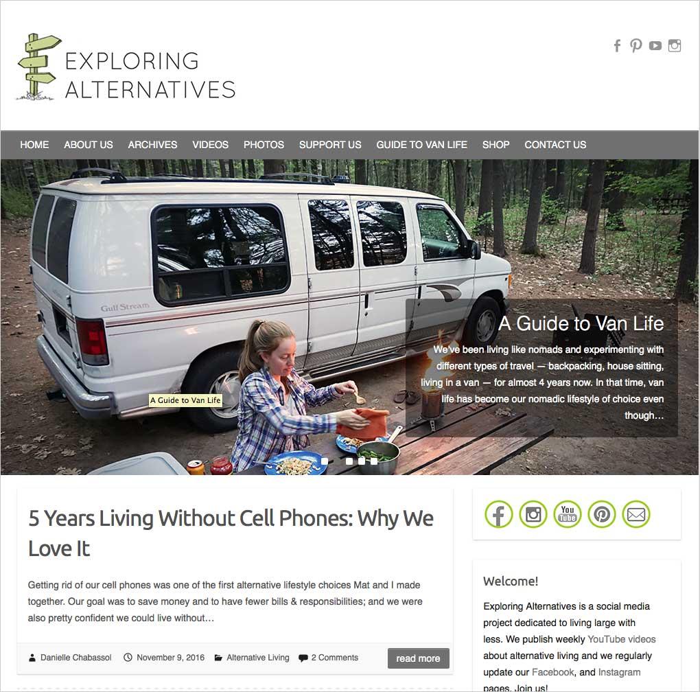 Exploring Alternatives beschäftgit sich (auch) mit dem mobilen Leben im Campervan.