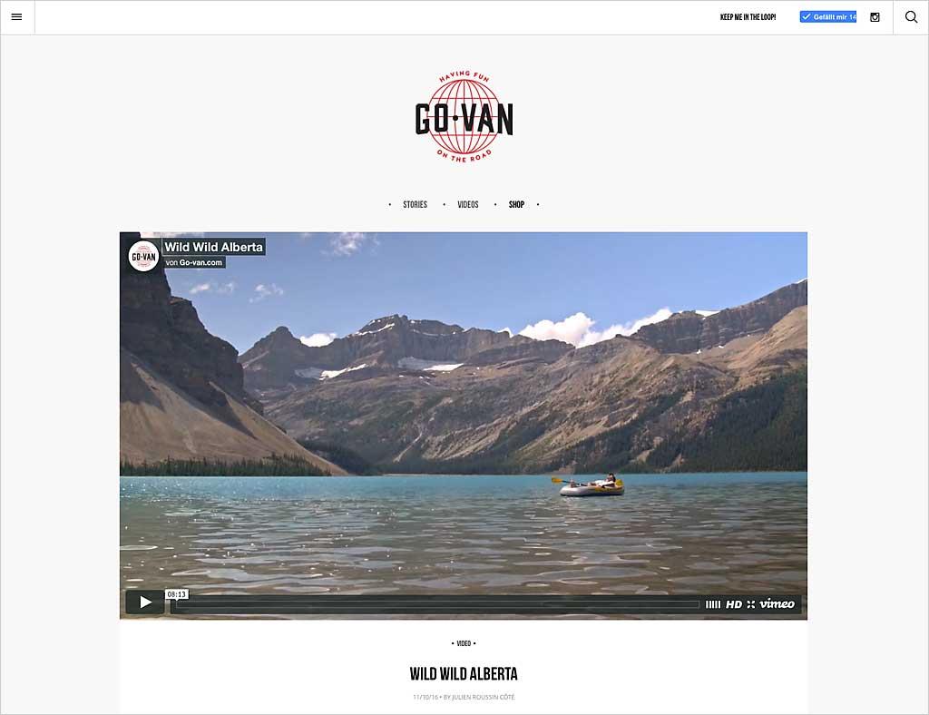 Go Van ist die Website des im Video porträtierten Julien.